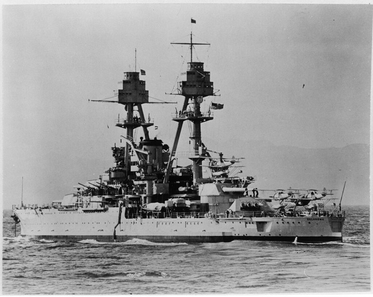 USS Oklahoma (BB-37)<br /> <br /> Date: Unknown<br /> Location: Unknown<br /> Source: William Clarke - National Archives