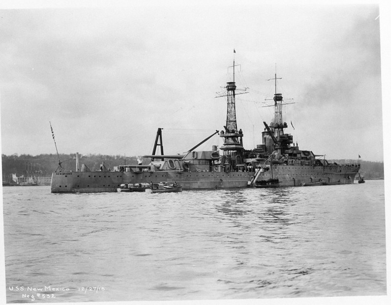 USS New Mexico (BB-40)<br /> <br /> Date: December 27 1918<br /> Location: Unknown<br /> Source: William Clarke - National Archives
