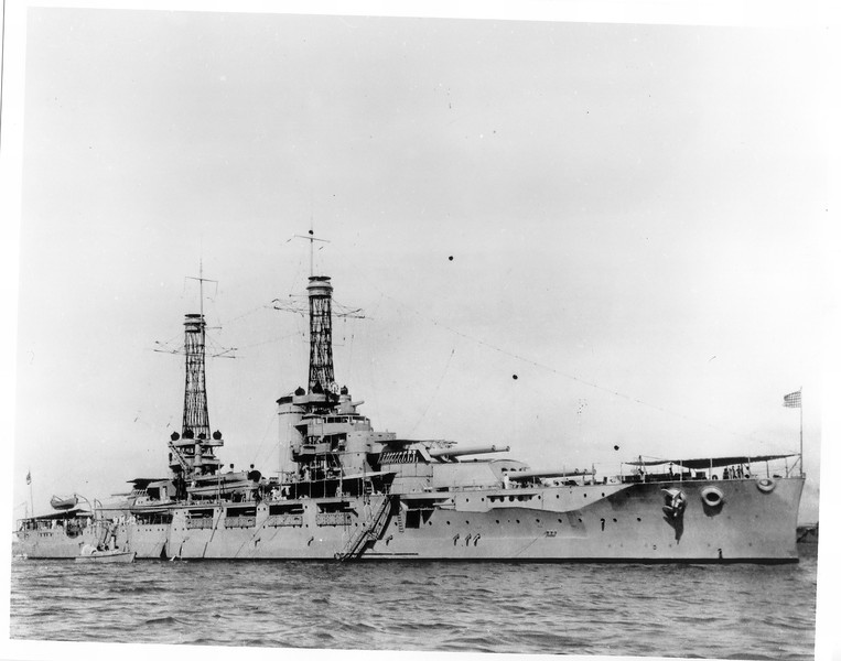 USS Nevada (BB-36)<br /> <br /> Date: Unknown<br /> Location: Unknown<br /> Source: William Clarke - National Archives