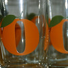 """Orange"" - as luck would have it, a wedding gift showed up this week from one of Brevard's friends.  Glasses for juice.  And guess which kind of juice???"