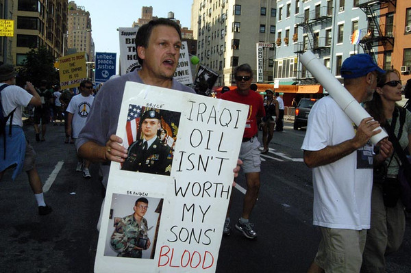 Protest March on the Republican National Convention, New York City, August 29, 2004