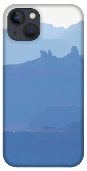 Grand Canyon Blue Silhouettes #2 iPhone 13 Case