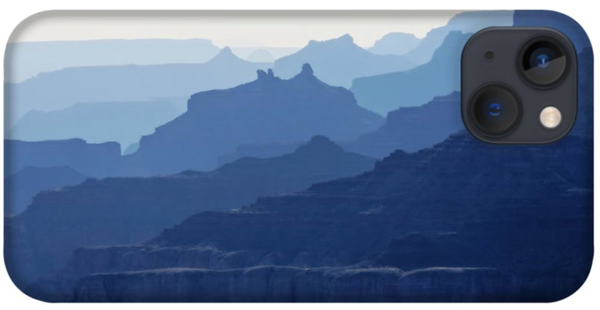 Grand Canyon blue silhouettes iPhone 13 Case