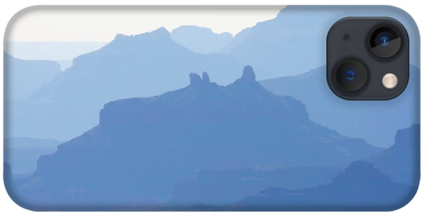 Grand Canyon Blue Silhouettes #2 iPhone case
