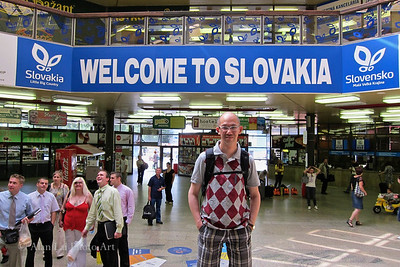 Bratislava Hlavna Stanica, Slovak Republic (Train Terminal).  I do feel welcomed!