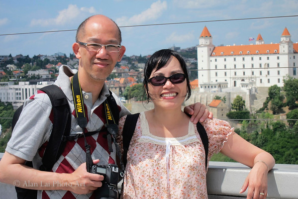 On the observation tower, Bratislava