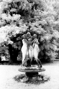 Three Graces, Maymont Park, Richmond Virginia (Infrared)