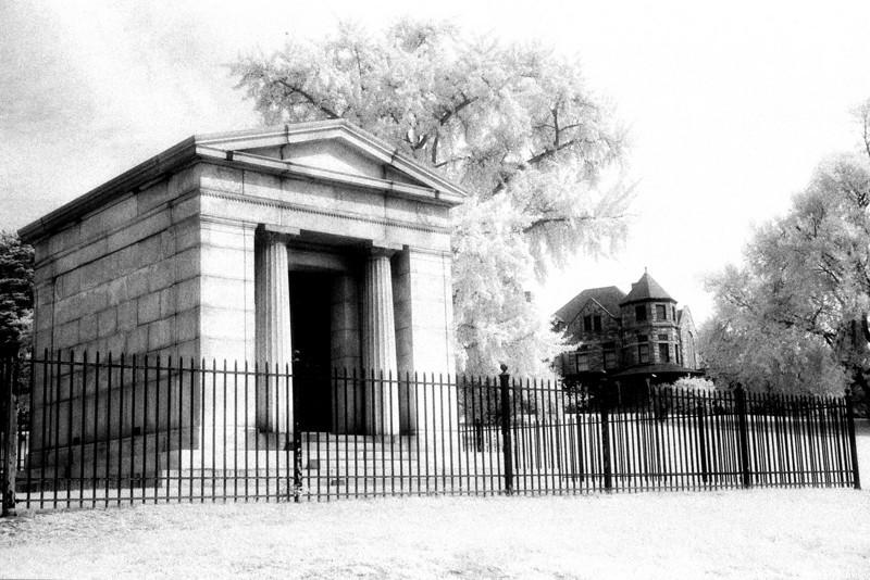 Mausoleum, Richmond Virginia (Infrared)