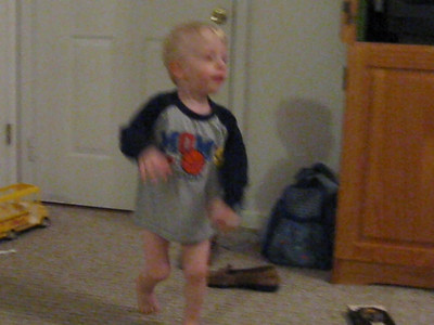 Luke dancing and singing. 2/25/10