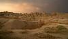Sunset in the South Dakota Badlands