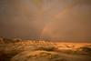 Rainbow sunset in the South Dakota Badlands