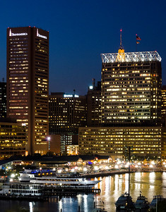 Blue hour in Baltimore Harbor
