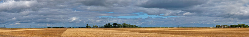 Clouds & fields, cultivated, cropped