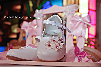 Baby girl shoes after baptism