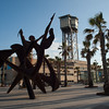Art, the cable car tower and some palm trees I feel creates a trio of contrasting subjects