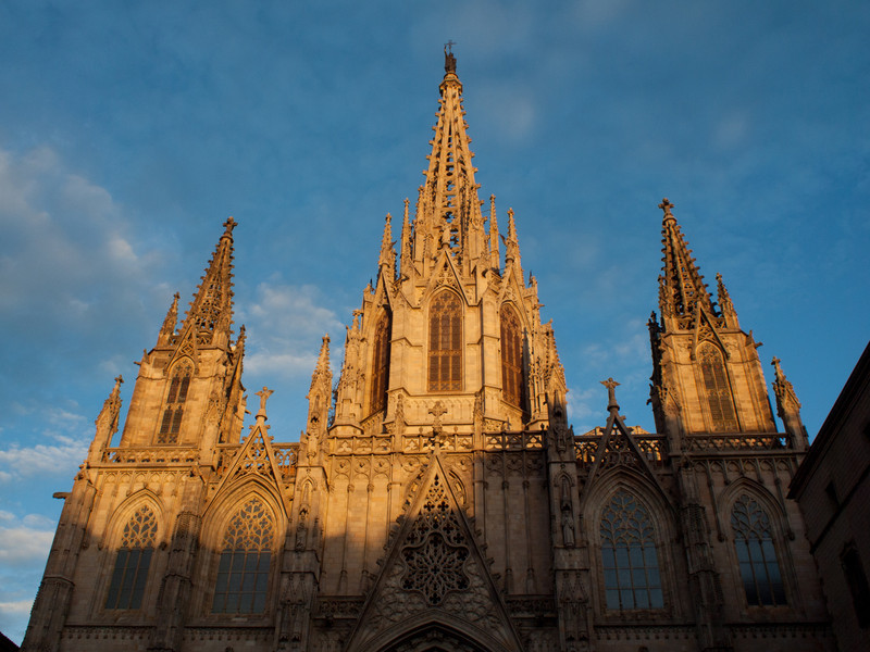 Barcelona Cathedral during the evening