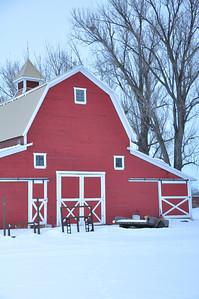 Red Barn in rural Bonneville county, near Idaho Falls, ID. 2.09