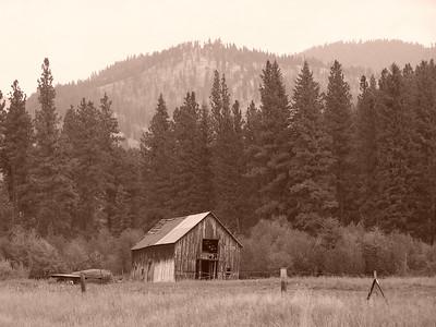 Old barn near Salmon, Idaho