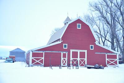 Red Barn in rural Bonneville county, near Idaho Falls, ID. 2.09. original