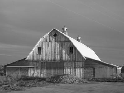 Old barn in Beach, North Dakota
