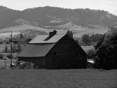 Montana Barn in the Bitterroots
