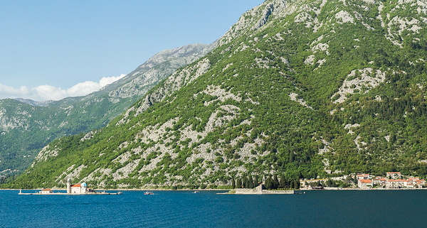 Rocky characteristic mountains above Perast