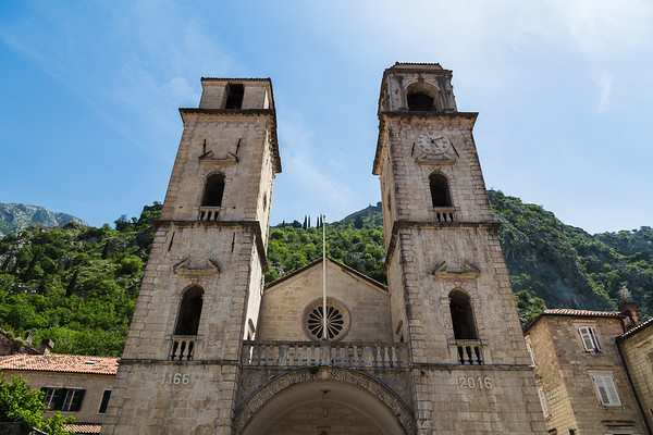 The lopsided Kotor Cathedral