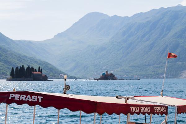 Tourist boat in Perast