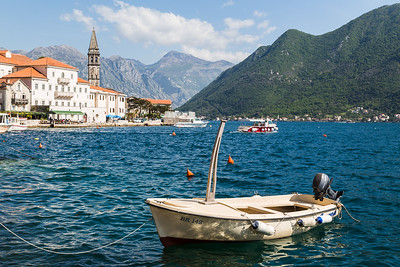 Small boat moored in Perast