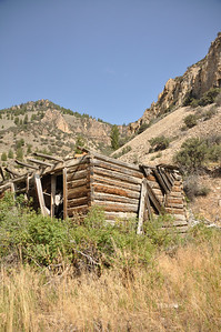 Early log house at Bayhorse, Idaho. Land of the Yankee Fork. 9.09