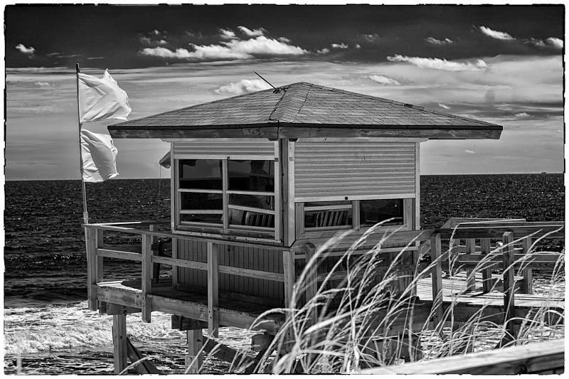 Lifeguard Station at Lantana Beach