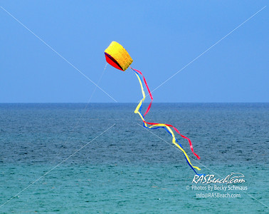 Kite flying over the ocean
