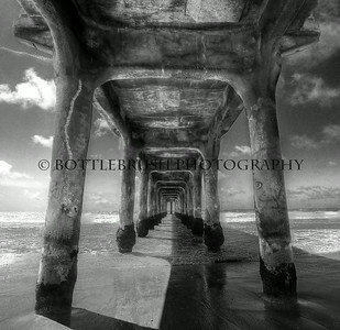 Manhattan Beach in Black & White