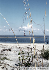 """Morris Island No. 2"" ~ Morris Island Lighthouse in Charleston Harbor, South Carolina."