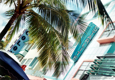 """South Beach Deco"" ~ Art Deco streetscape in South Beach (Miami Beach, FL)."
