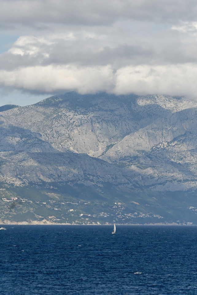 Taken from near the island of Brac with the Croatian mainland across the water.