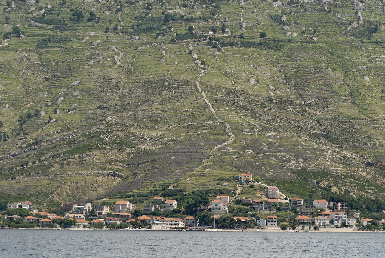 Small mainland Croatian village on the coast.