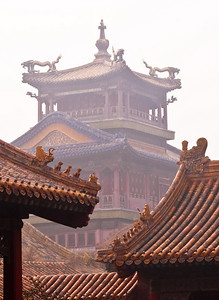 Towers guarded by various animal figures, Forbidden City