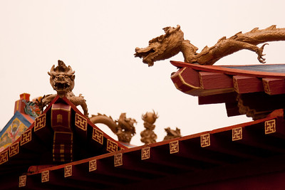 Dragons figures to protect the building, Ming Tombs