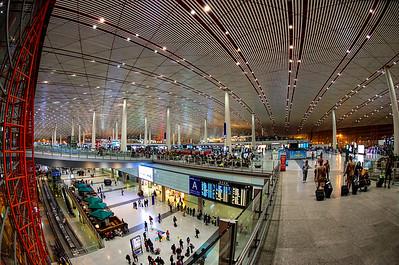 Beijing Airport Departure Hall