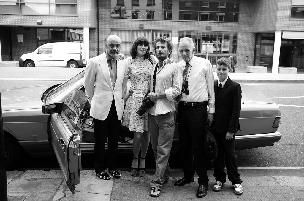 Christian Louboutin, Bella Freud, Tao Ruspoli, James Fox, Jimmy Lux Fox, July 1, 2011<br /> Photo by Julian Broad