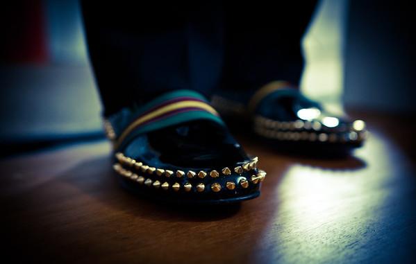 Christian Louboutin's feet