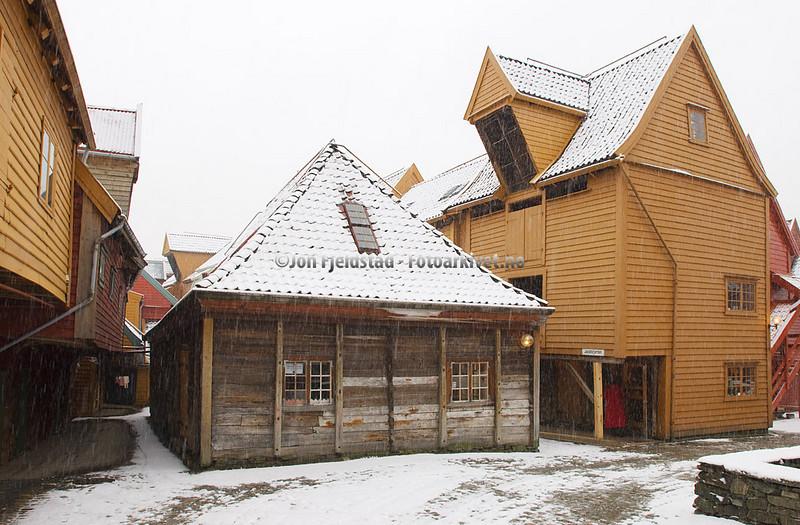 Bryggen i Bergen - Ved Bryggestredet - Jacobsfjorden - Bellgården