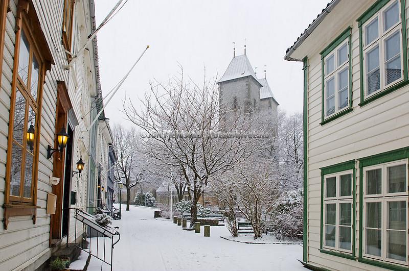 Mariakirken og Kroken i Bergen