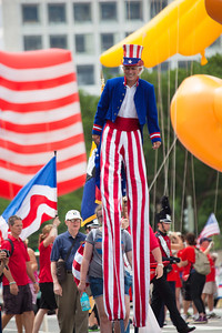 Uncle Sam marches in the National Independence Day Parade