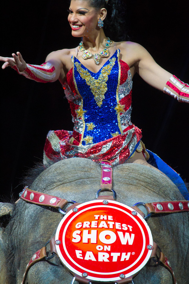 Flavia Costa from Brazil<br /> Three year old Bengal tiger named Napoleon.<br /> Wringling Brothers Barnum & Bailey Circus