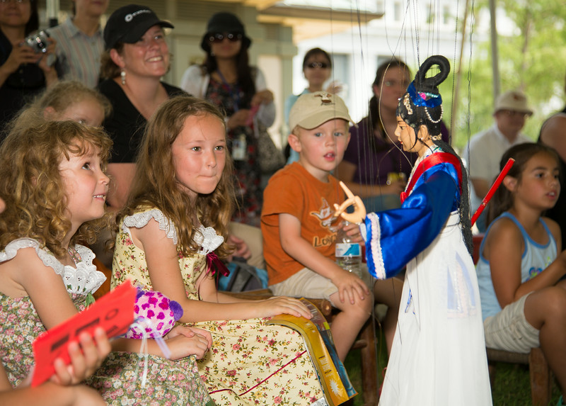 Puppets from China entertain at the Smithsonian Folklife Festival.