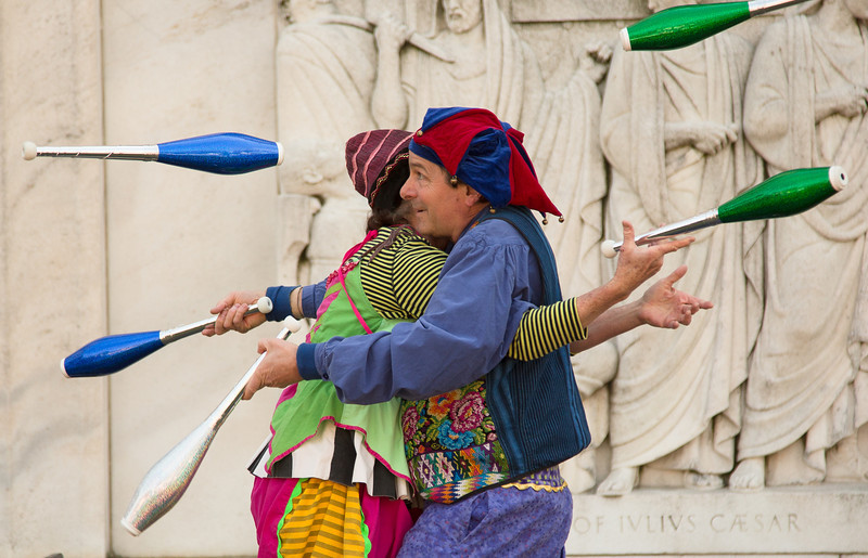 Nicolo and Whimsey perform during the Shakespeare's Birthday Celebration at the Folger Shakespeare Library - April 6, 2014