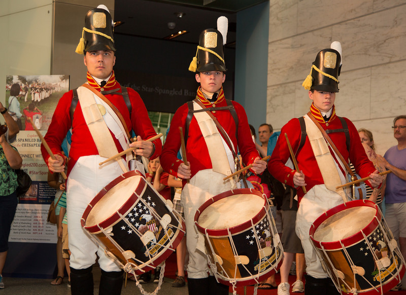The Fort McHenry Guard Fife and Drum Corps performs popular War of 1812 pieces.