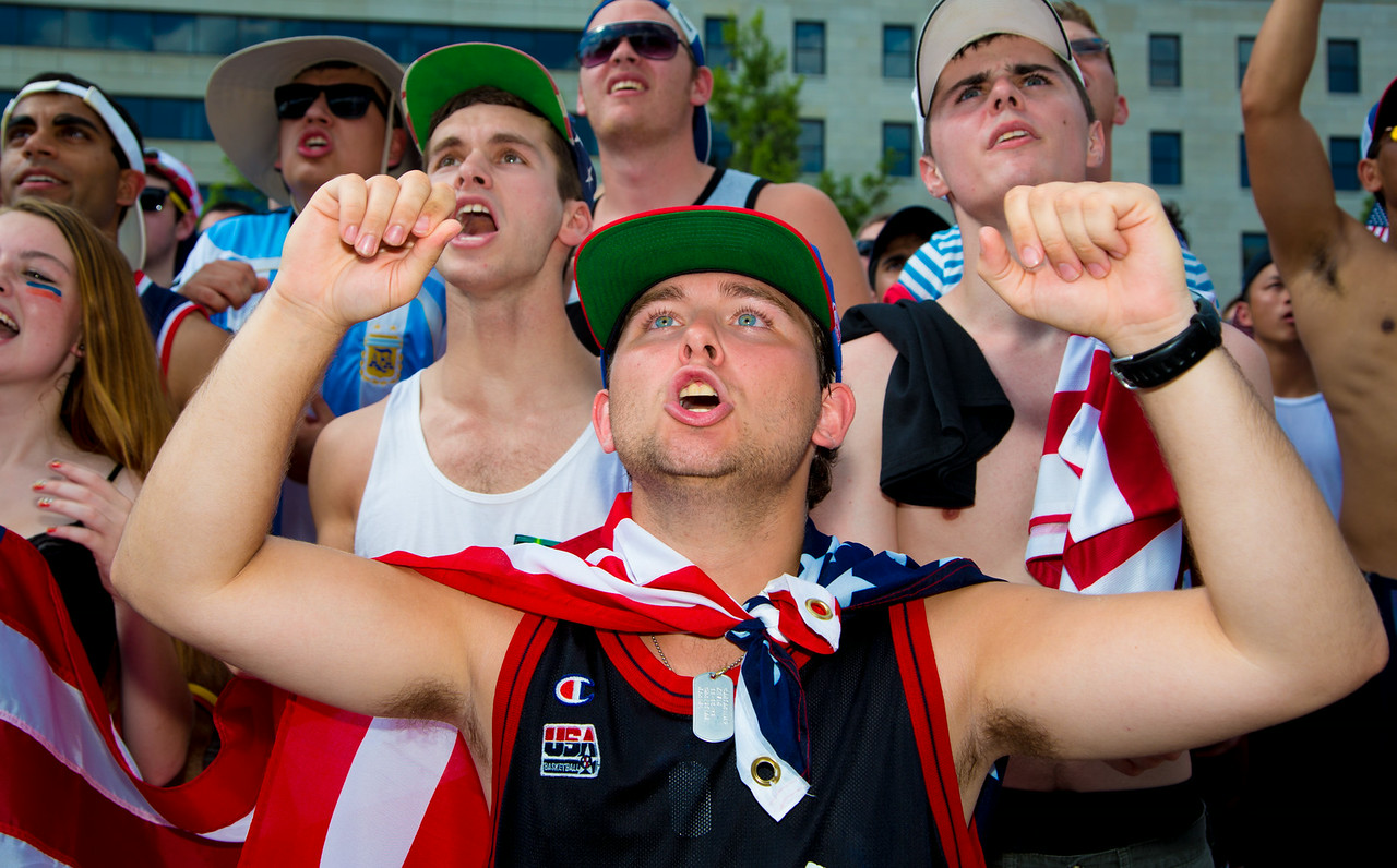 Kevin Cantarilho from Potomac MD<br /> World Cup fans gather in Freedom Plaza for USA vs. Belgium (July 1, 2014)